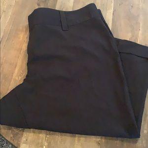Maurices dress black Capri cuff pant wide waist